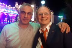 Manuel Schneider (Autoskooter Hard Rock Drive) und Thomas Weber (Kirmesgesellschaft)