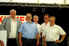 Ehrungen: Bürgermeister H. J. Vogel, Jochen Haite