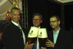 Peter Oser-Veltins, Ingo Beckschäfer, Tim Plachner bei der Eröffnung