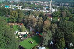 Tierschau-Gelände und Kirmesplatz im Hintergrund - Luftbild Jochen Krutmann