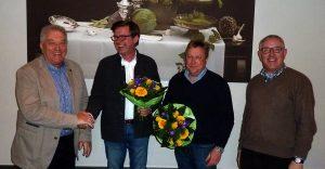 Der Vorstand der Hüstener Kirmesgesellschaft (v. l. n. r.): Heiner Vogel, Ingo Beckschäfer, Klaus Franksmann, Hubertus Gössling